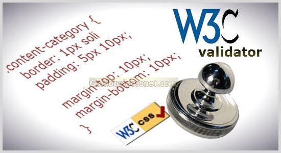 CSS validator для проверки корректности кода CSS