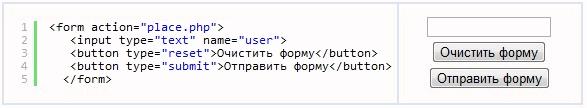 Атрибут type тега button для создания кнопок на сайте