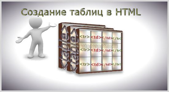 Создание html таблиц при помощи тегов table, th, tr, td