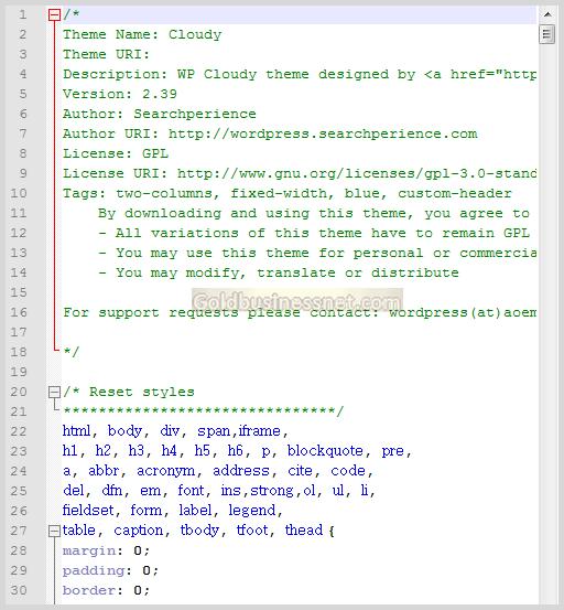 Несжатый CSS