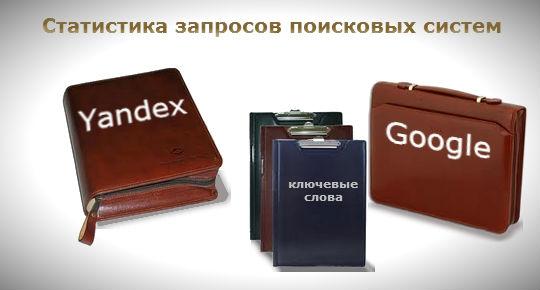 Статистика ПЗ в Яндексе и Гугле