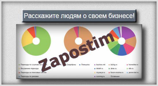 Новый сервис крауд маркетинга Zapostim.ru