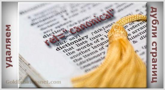 Назначение канонической страницы с помощью link rel canonical