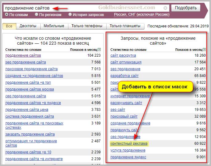 Продвижение слова на сайтах русподарки сайт компании