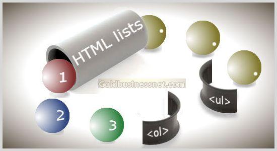Различные списки в HTML